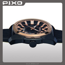 PX-15 OEM ODM high quality elegance fashion black rosegold sport european brand wrist watch men stainless steel watch for unisex