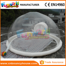Popular inflatable transparent tent clear bubble tent for sale