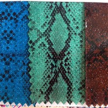 New products online shop china snake skin pu leather wholesale bulk glitter