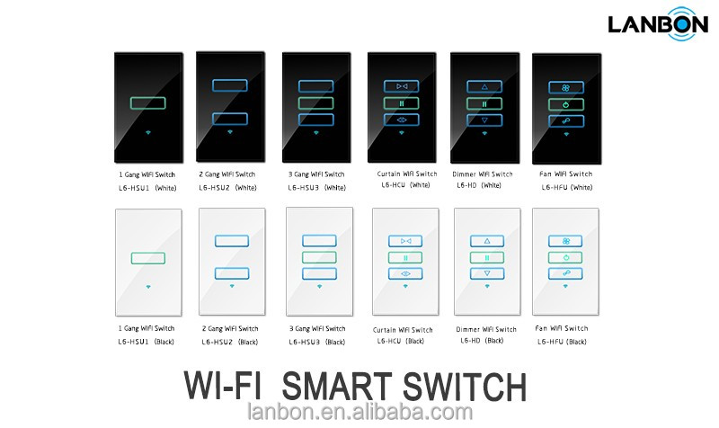 See larger image Android phone / Iphone remote control Wifi smart home light switch Switch for Lights, Dimmer, AC, DVD, TV, Cur
