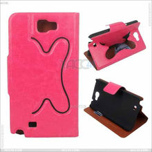 For Samsung Galaxy Note 2 Ultra Thin Leather Flip Case New Stylish Design P-SAMN7100CASE034