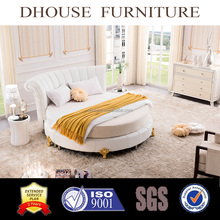 Hotel Bedroom Furniture New Classic Italian White Round Bed Sets 021