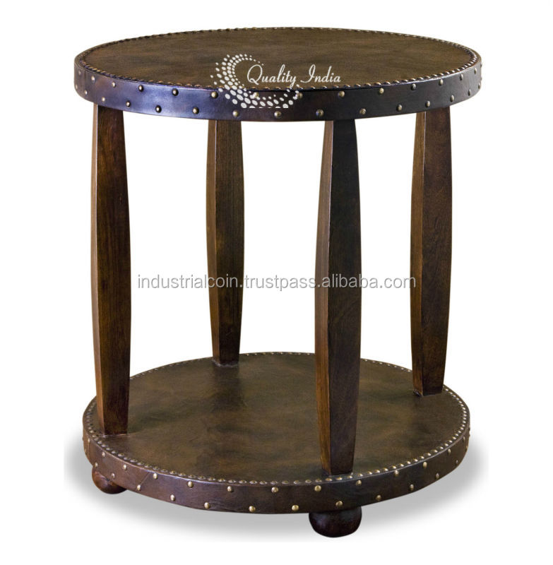 Heritage Cylindrical Pillar Like Legs Stool Table
