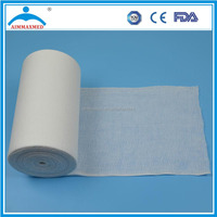 Absorbent medical cotton gauze roll in Surgical dressing