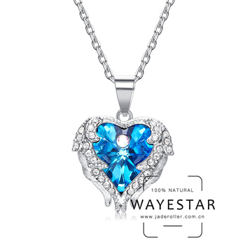 Fashion Heart-shaped Crystal Pendant Necklace with Swarovski Elements Jewelry for Women
