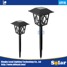 LOYAL China manufacturer sunpower LED outdoor solar panel lawn parterre garden pathway solar light lantern fixture lamp