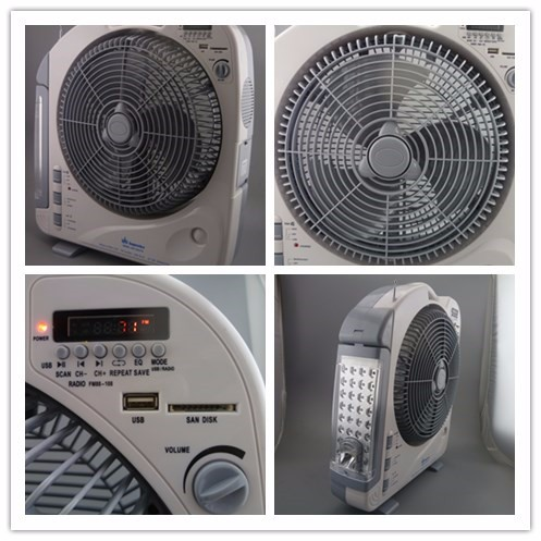 12V battery and electric power source and plastic material mini ac/dc rechargeable fan price