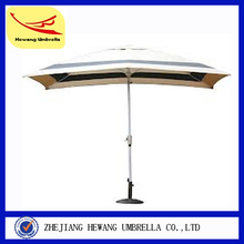 200cm Aliminum fishing umbrella solar led beach umbrella