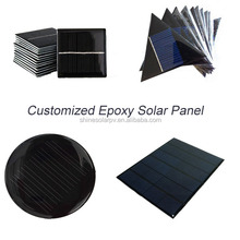 Cheap Small Round Solar Panel with wires Custom Made in China