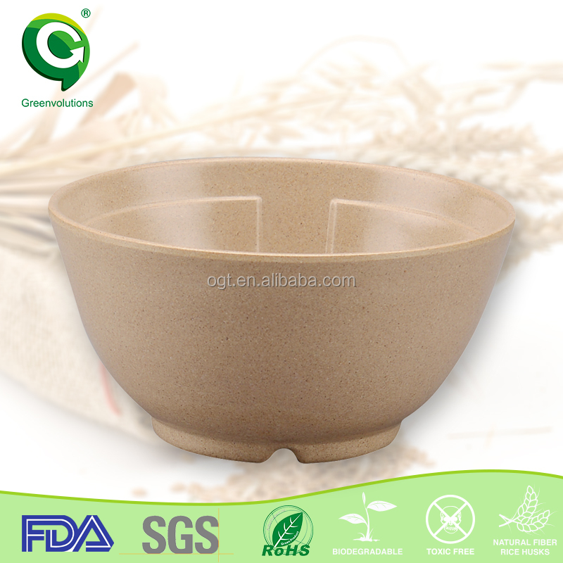 eco green suction bowl with straw