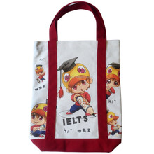 Promotional eco friendly handled organic canvas cotton shopping tote bag