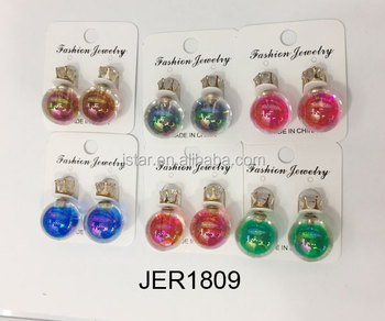 Hot-selling girls colorful acrylic earrings