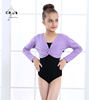 Long Sleeve Multiple Colors Ballet Tops Dance Tops For Girls