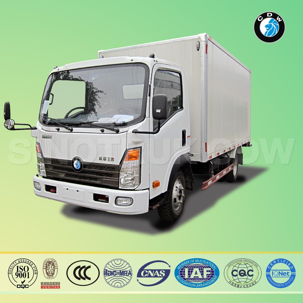 SINOTRUK CDW diesel Euro-II 84Hp 3 ton small delivery box trucks for sale