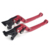 CNC Billet adjustable Alloy Aluminum long straight folded motorcycle Brake Clutch Levers