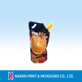 spout packaging pouch beverage packaging bag wiht hand hole