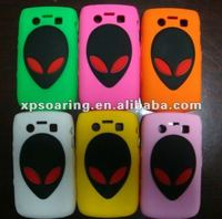 Saucer man silicone case skin cover for Blackberry bold 9700