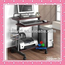 multi-functional metal and glass high end console table / office computer desk with shelving system HY-CD178