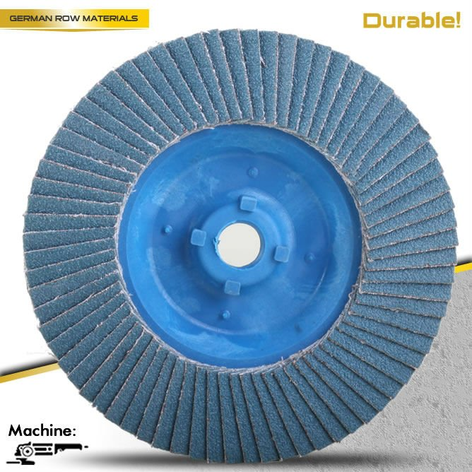 T27 4.5'' 100x16mm Plastic backing flap disc for stainless steel quick install