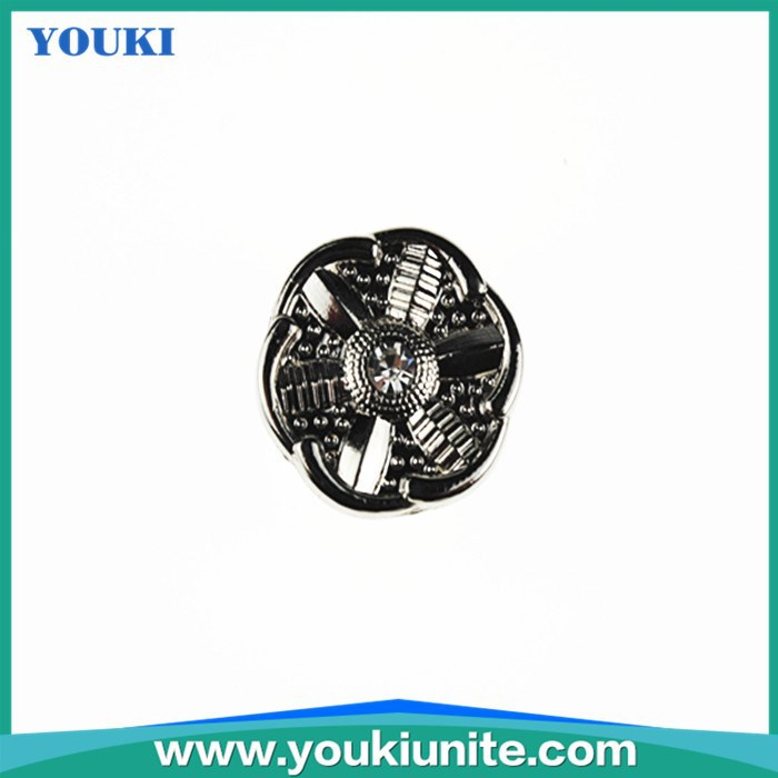 fashionable accessories flower type jeans button