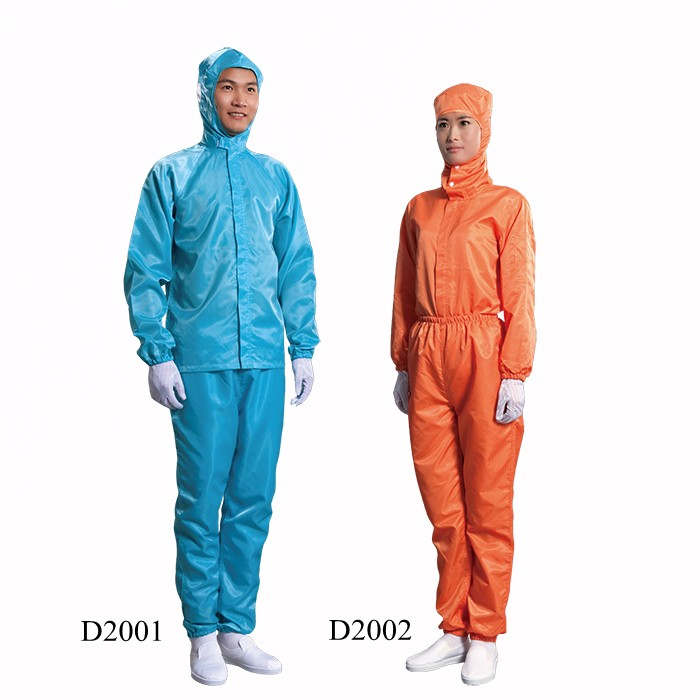 Customized Antistatic Cleanroom Smock with Conductive Yarn