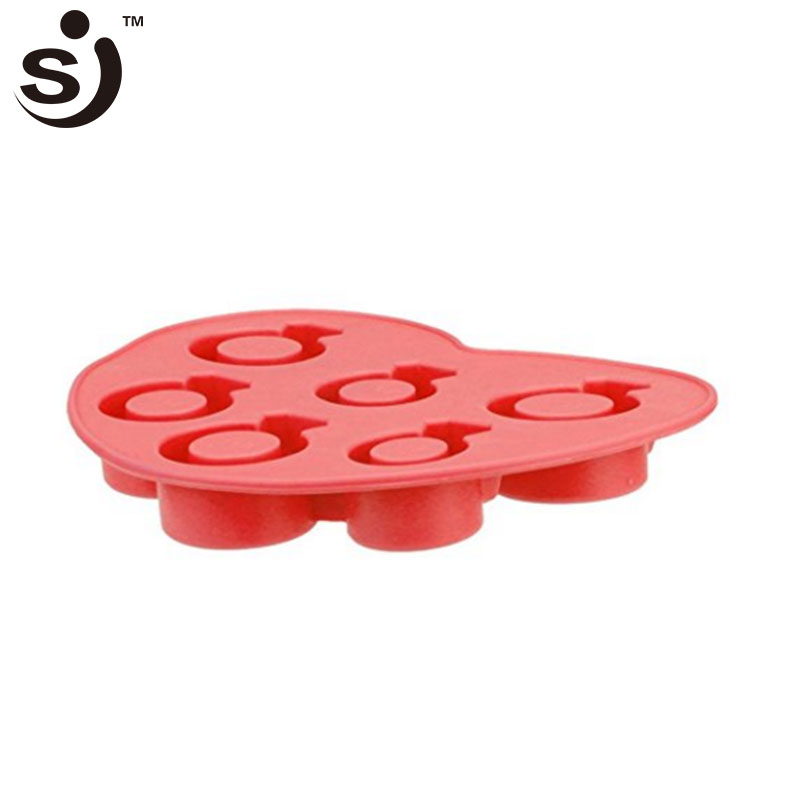 Amazon Hot Sale Diamond Ring Ice Shapes Silicone Jelly Candy Chocolate Cookies Ice Cream Tools ice cube tray