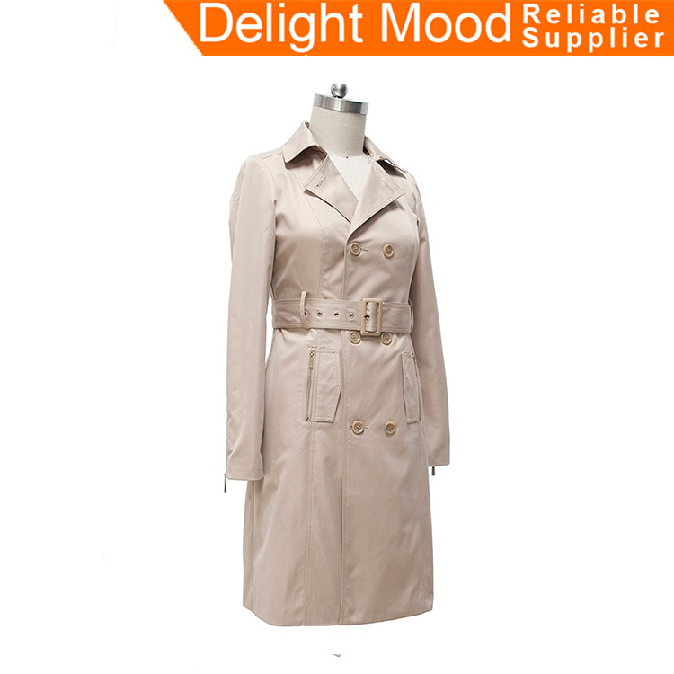 2017 New style twill waterproof antistatic handmade long model women house coat