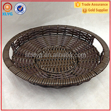 New products fruit round stainless steel nylon woven storage basket