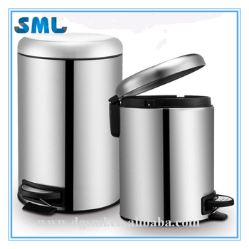 Wholesale household items stainless steel pedal bins recycling rubbish bins