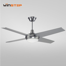 "52"" outdoor big decorative LED light ceiling fan with remote control"