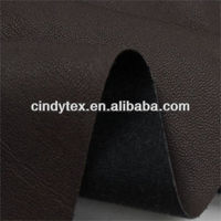 0.7mm drapery brown soft viscose polyester cow pu leather for clothing