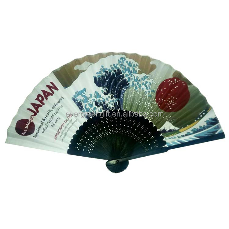 custom japanese silk folding fan