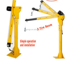 Pick up crane with 12V DC winch/small car hoist 2 post lift crane manufacture