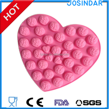 love design pink color 3d silicone rose chocalate FDA baking mold making mini Bolos cake chocolate soap silicone cake mould