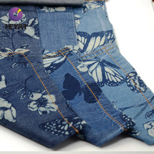 high quality printed cotton denim jeans fabric
