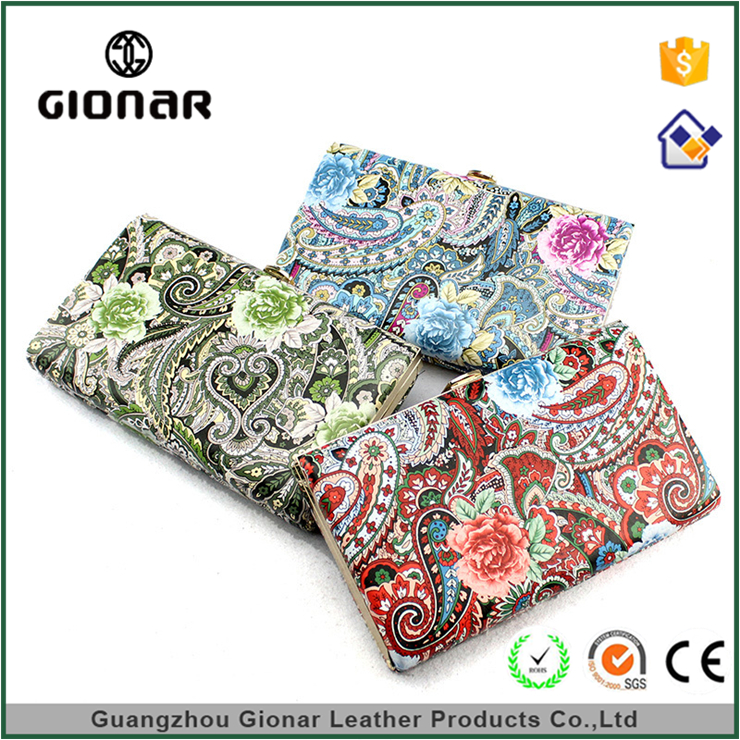 Gionar Cool Hot Selling Promotional Women Evening Frames Embroidered Clutch Bag