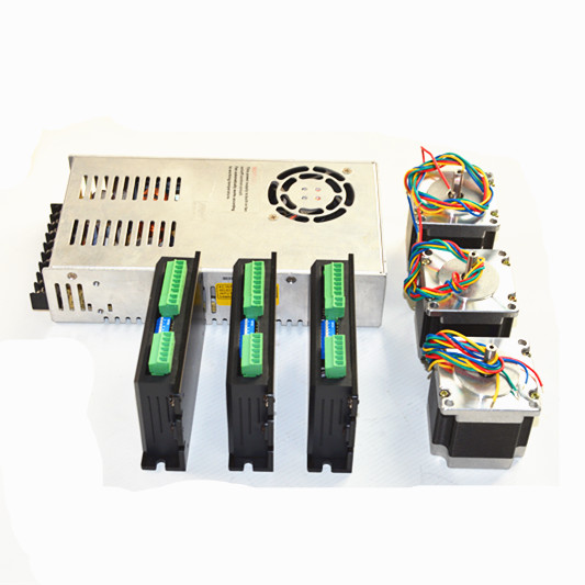 3 Axis 2N.m Nema 23 Stepper <strong>Motor</strong> & JT442T Driverr Kit & power supply For CNC Router