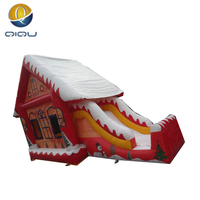Big sale!! Inflatable Santa house, Christmas inflatable bouncing castle products for outdoor play