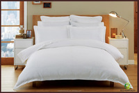 100% Cotton Plain White Hotel Bed Sheets