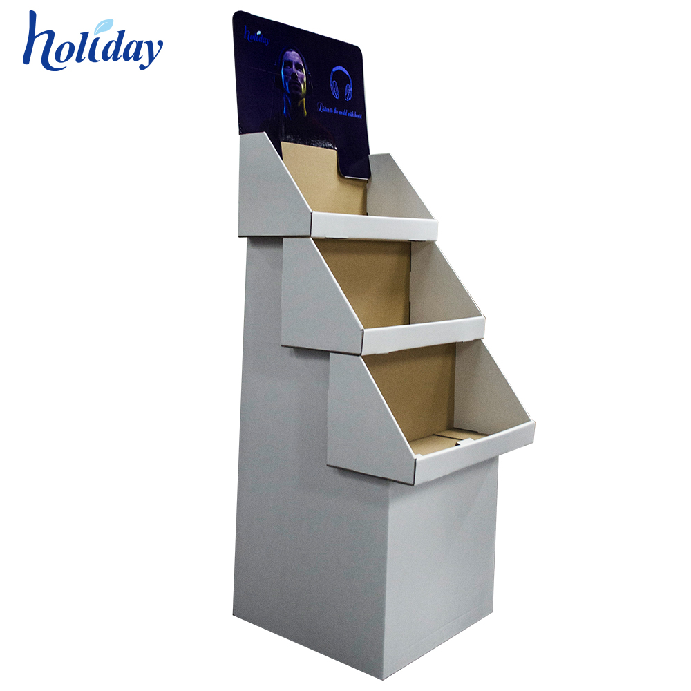Retail Promotion Cardboard Floor Display <strong>Stand</strong>, Carton Display Shelf, Paper Display Rack