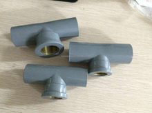 JS Plastic PVC Tee Pipe Fitting With Copper