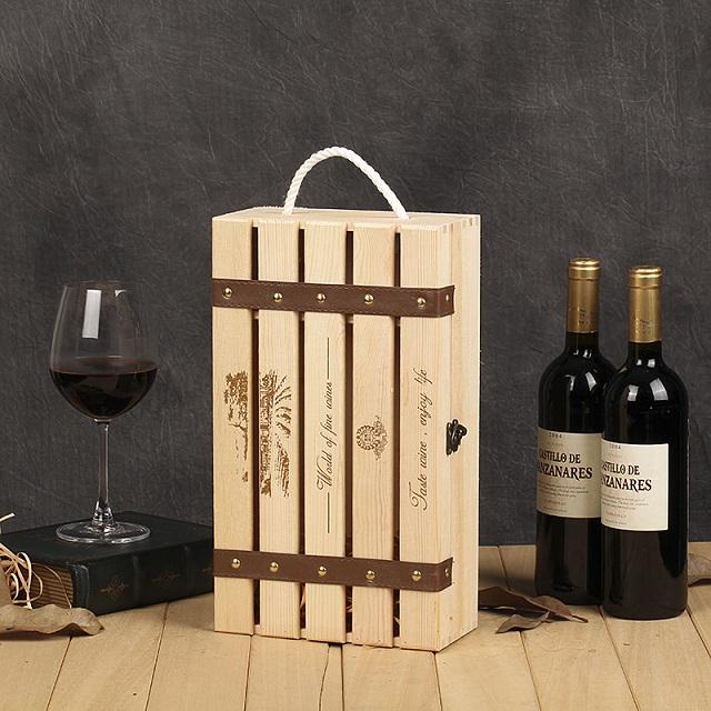 deux bouteilles bo te en bois pour le vin artisanat d 39 imitation antique id de produit. Black Bedroom Furniture Sets. Home Design Ideas