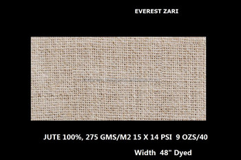 Everest zari Natural jute fabric 51""