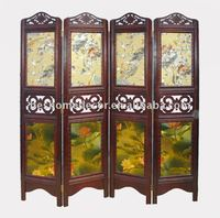 Antique carved room divider screens