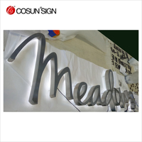 New arriving! wall hanging acrylic advertised led backlit letters to make signs 3d light shop hotel name with baking finish