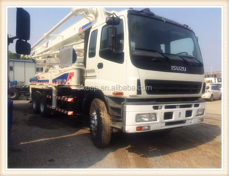 Japan Chassis 37m Zoomlion Used Concrete Pump Truck For Sale