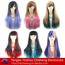 Manufacturers top human hair full lace cheap colorful synthetic wig
