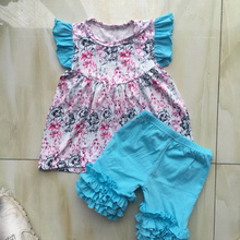 CX-563 Wholesale fancy cute baby girls outfit princess printed create your own brand clothing factories in China summer clothes