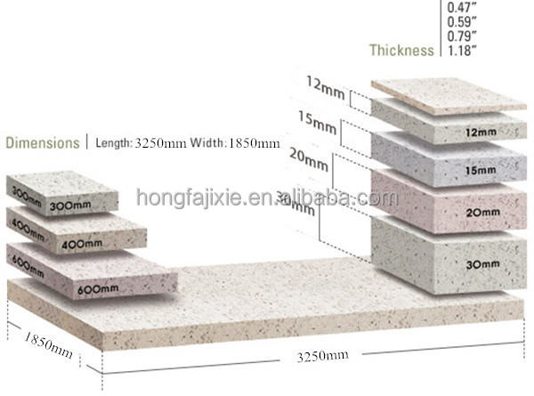 Bon ... Quartz Stone Slab And Tile Size