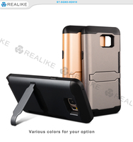 2015 hot selling wholesale credit card tpu pc cover for samsung galaxy note 5 with stand